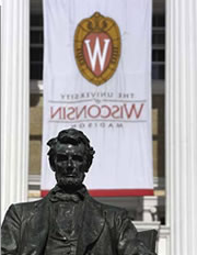 Lincoln Statue on Bascom Hill