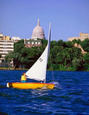 Sailboat with Capitol Building in the background