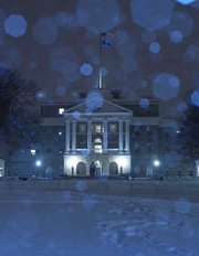 Night view of Bascom in the winter